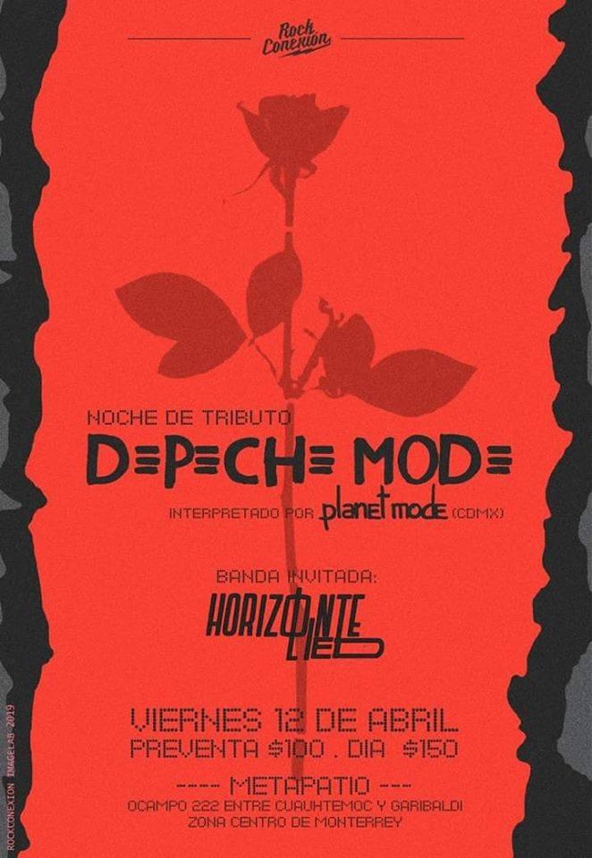 Apoyando nuevamente a nuestros amigos de Planet Pop en su tributo a Depeche Mode, este 12 de Abril!